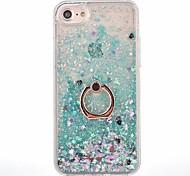 Назначение iPhone X iPhone 8 iPhone 8 Plus Чехлы панели Движущаяся жидкость Кольца-держатели Задняя крышка Кейс для Сплошной цвет Твердый