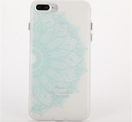For Glow in the Dark Frosted Embossed Case Back Cover Case Mandala Soft TPU for Apple iPhone 7 Plus iPhone 7 iPhone 6s Plus iPhone 6 Plus