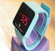 Unisex Fashion Watch Digital Silicone Band Casual Blue Yellow