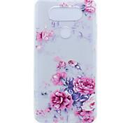 Для Прозрачный С узором Кейс для Задняя крышка Кейс для Цветы Мягкий TPU для LG LG K10 LG K8 LG K7 LG G6 LG Nexus 5X LG V20 LG X Power