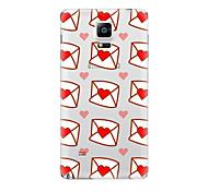 Para Transparente Diseños Funda Cubierta Trasera Funda Corazón Suave TPU para Samsung Note 5 Note 4 Note 3 Note 2