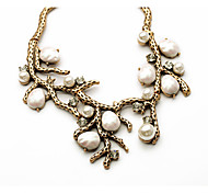 Women's Statement Necklaces Crystal Leaf Chrome Unique Design Personalized Luxury Jewelry For Anniversary Congratulations Gift 1pc