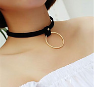 Simple Lolita Black Ring Necklace Lolita Accessories