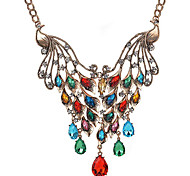 MPL Europe and the peacock Diamond Drop Necklace exaggerated