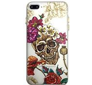 Для свечения в темном футляре случае задняя крышка корпуса скелет розы мягкий тпу для iphone7 7plus 6 6splus 5 5s