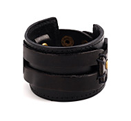 New Arrival Women's Men's Leather Bracelet Fashion Leather Round Jewelry For Party Special Occasion Gift Christmas Gifts 1pc