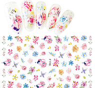 1pcs Fashion DIY Romantic Style Colorful Flower Decoration Nail Art 3D Stickers Manicure Beauty Tip F198