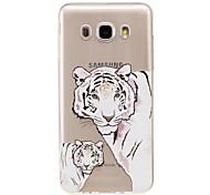 For Samsung Galaxy J7 2017 J5 2016  IMD Transparent Case Back Cover Case Tiger Soft TPU for J5 2017 J3 2017 J710 J310 J3 J5 J1 2016 J1