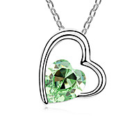 Women's Pendant Necklaces Jewelry Jewelry Gem Alloy Unique Design Fashion Light Green Light Blue Blushing Pink Red Purple Jewelry For