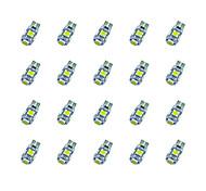 20pcs t10 5 * 5050 smd tabula rasa decoding geführtes Auto Glühlampe weißes Licht dc12v