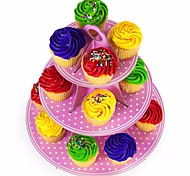 1Pcs  Baby Birthday Party  Three Layer Paper Cupcake Cake Stand Dessert Candy Stand Party Decoration