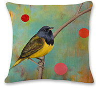 1 pcs Oil painting bird printing style linen pillow sets sofa cushions cover