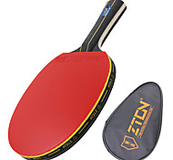 Ping Pang/Настольный теннис Ракетки Ping Pang Дерево Длинная рукоятка Прыщи 1 Ракетка 1 Сумка для настольного теннисаZTON