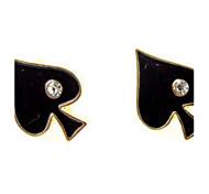 Fashion And Individuality Of Mini Poker Spades Han Edition Drop Earrings Accessories Diamond Earrings
