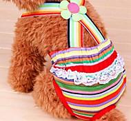 Собаки Брюки Одежда для собак Лето Цветы Милые Мода Радужный