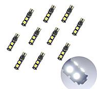 Decodifica della lavagna 10pcs t10 9 * 5050 ha condotto la luce bianca dc12v della lampadina dell'automobile