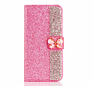 Para o iphone da maçã 7 mais o caso duro do couro do caso do brilho do brilho do caso da carteira do suporte do cartão 7 para o iphone 6s
