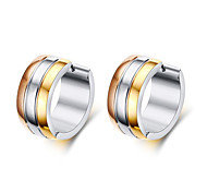 Queen Women Men Fashion Frosted Earrings Stud Stainless Steel Material 3 Color Trendy Style Earrings Jewelry