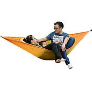 2 человека Гамак Складной тент Палатка Полотно Компактность Складной-Пляж  Походы На открытом воздухе-оранжевый