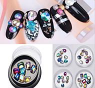 1pcl цветной бриллиант для ногтей с 8 пунктами в коробке 4 цвета опционально