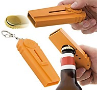 1Pcs   Creative Plastic Ejection Beer Bottle Opener Kitchen Tool With A Handy Key Chain Party Supplies
