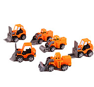 Construction Vehicle Pull Back Vehicles Car Toys 1:10 Plastic Yellow