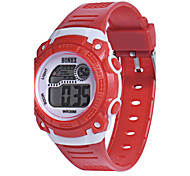 Women's Men's Sport Watch Digital Watch Chinese Digital Silicone Band Blue Red Yellow