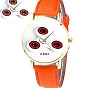 Unisex Fashion Watch Quartz PU Band White Orange Yellow