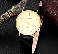 Women's Fashion Watch Quartz Leather Band Black Black Gold