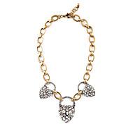 Women's Strands Necklaces Heart Chrome Unique Design Personalized Black Jewelry For Housewarming Congratulations Casual 1pc