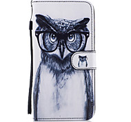 For Samsung Galaxy S8 Plus S8 Case Cover Owl Pattern Painted Card Stent PU Material Phone Case S7 Edge S7 S6 S5