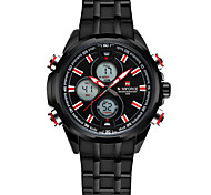 NAVIFORCE Men's Sport Watch Fashion Watch Wrist watch Casual Watch Quartz Calendar Stainless Steel Band Luxury Cool Unique Watches