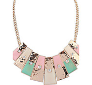 Women's Strands Necklaces Jewelry Jewelry Gem Alloy Euramerican Fashion Vintage Light Green Light Blue Blushing Pink Jewelry ForParty