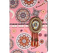 Per mela ipad mini1 2 3/4 copertina caso con stelo flip modello pieno corpo astuccio linee / onde fiore hard pu leather
