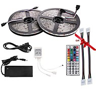 Led Strip Light Kit DC12V 5050 Waterproof(10M) 600leds RGB 60leds/m with 44key Controller and 12V6A Power Supply(Gift 2PCS 5050 Strip Light Connector)