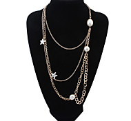 Contracted Chains Multilayer Starfish Necklace Africa Long Pendant Sweater Chain Necklace Layered Necklaces