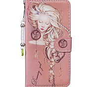 For Apple iPhone 7 7 Plus iphone 6s 6 Plus iphone SE 5s 5 The Sleeping Beauty Girl Pattern PU Leather Case