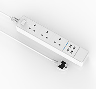 AIAWISS Power Strip Surge Protector 3 Outlets & 4 Smart USB Charging Ports (6A Max) 6 Heavy Duty Extension Lead Cord