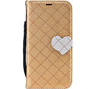 For Samsung Galaxy A3 A5 (2017) Case Cover The New Grid Pattern Pattern Love Buckle PU Material Hit Color Phone Case A3 A5 (2016)