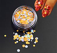 1bottle моды ногтей красоты красочные круглые тонкие slice блеск круглый блестка ногтей искусство DIY украшения p35