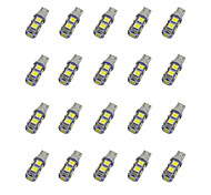 20Pcs T10 9*5050 SMD LED Car Light Bulb White Light DC12V