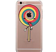 Для Прозрачный С узором Кейс для Задняя крышка Кейс для Композиция с логотипом Apple Продукты питания Мягкий TPU для AppleiPhone 7 Plus
