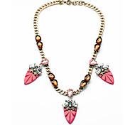 Women's Strands Necklaces Oval Chrome Unique Design Personalized Light Blue Jewelry For Housewarming Congratulations Casual