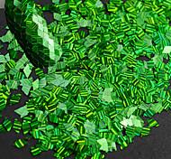 1 бутылка новой моды ногтей лазерной нашивки зеленый ромб тонкий срез блеск ослепительно блестка украшения для ногтей искусства DIY