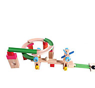 Building Blocks Educational Toy Track Sets For Gift  Building Blocks Wood 2 to 4 Years 5 to 7 Years Toys