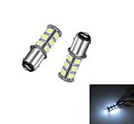 2шт 1157 18 * 5050smd светодиодная лампа для автомобиля белый свет dc12v