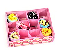 1Pcs  12 Grid Bag Non-Woven Fabric Folding Case Storage Box For Bra Socks  Underwear Organizer For Cloth Print Storage