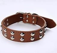 Pu кожаные ошейники для собак грибные заклепки шипованные ошейники для собак среднего размера