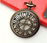 Men's Pocket Watch Quartz Alloy Band Bronze