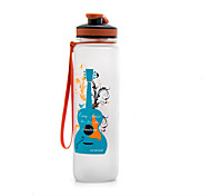 Cartoon Guitar and Saxophone Water Bottle 1000ml